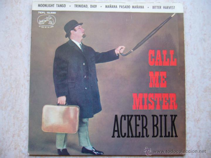 MR. ACKER BILK - MOONLIGHT TANGO +3 (Música - Discos de Vinilo - EPs - Jazz, Jazz-Rock, Blues y R&B)