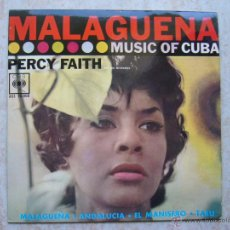Discos de vinilo: PERCY FAITH - MALAGUEÑA - MUSIC OF CUBA . Lote 42713845