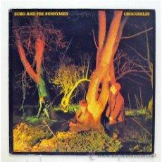 Discos de vinilo: ECHO AND THE BUNNYMEN - 'CROCODILES' (LP VINILO. FUNDA DISCO CON CRÉDITOS). Lote 42728920