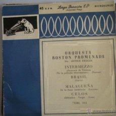 Discos de vinilo: MAGNIFICO SINGLE DE - ORQUESTA BOSTON PROMENADE -. Lote 42730114