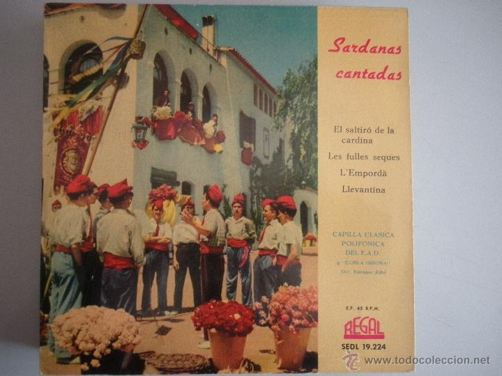 MAGNIFICO SINGLE DE - SARDANAS - CANTADAS - (Música - Discos - Singles Vinilo - Bandas Sonoras y Actores)
