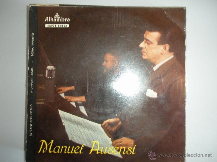 MAGNIFICO SINGLE DE -MANUEL - AUSENSI - (Música - Discos - Singles Vinilo - Bandas Sonoras y Actores)