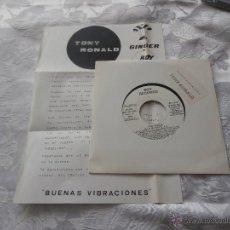 Discos de vinilo: TONY RONALD 7´EP BUENAS VIBRACIONES (1988) EDICION ESPECIAL PROMOCIONAL EMISORA DE RADIO*NUEVO*. Lote 42736110