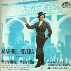 Discos de vinilo: MARIBEL RIVERA EP SELLO BERTA AÑO 1965 . Lote 42738660