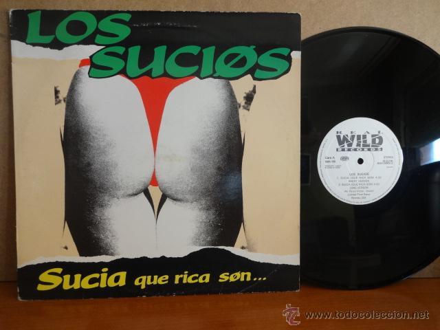 LOS SUCIOS. SUCIA. QUE RICA SON. MAXI SINGLE / WILD RECORDS - 1990. CALIDAD NORMAL. **/** (Música - Discos de Vinilo - Maxi Singles - Grupos Españoles de los 90 a la actualidad)