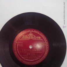 Discos de vinilo: ORQUESTA TIPICA ESPAÑOLA. CUCHILLEROS. GENIL. AMINA, PASODOBLE TE QUIERO. ALHAMBRA MGE 60.021 (1954). Lote 42742586
