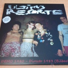 Discos de vinilo: ULTIMO RESORTE ( LP DEMO 1980 + DIRECTO EN BILBAO 1983 ). Lote 42745620