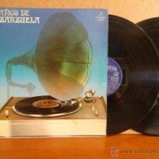 Discos de vinilo: 50 AÑOS DE ZARZUELA. DOBLE LP-GATEFOLD / COLUMBIA - 1977. BUENA CALIDAD. ***/***. Lote 42759318