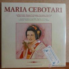 Discos de vinilo: MARÍA CEBOTARI. DOBLE LP-GATEFOLD / EDIGSA - 1981. PRECINTADO SIN ABRIR. ***** LEER. Lote 42759865