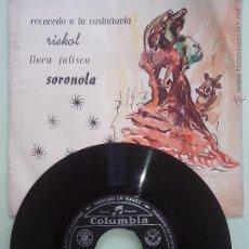 Discos de vinilo: DIEZ CEPEDA Y ORQUESTA. RECUERDO A LA CASTAÑUELA Y 3 +. FOX.CORRIDO... COLUMBIA QEN3728 (1960). Lote 42760472