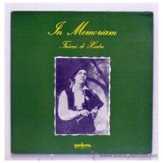 Discos de vinilo: FAÍSCAS DO XIABRE - 'IN MEMORIAM' (LP VINILO). Lote 42769422