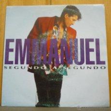 Discos de vinilo: EMMANUEL - SEGUNDO A SEGUNDO - SINGLE SIDED PROMO EPIC - ARIE - 3144 - ESPAÑA 1992. Lote 42773336