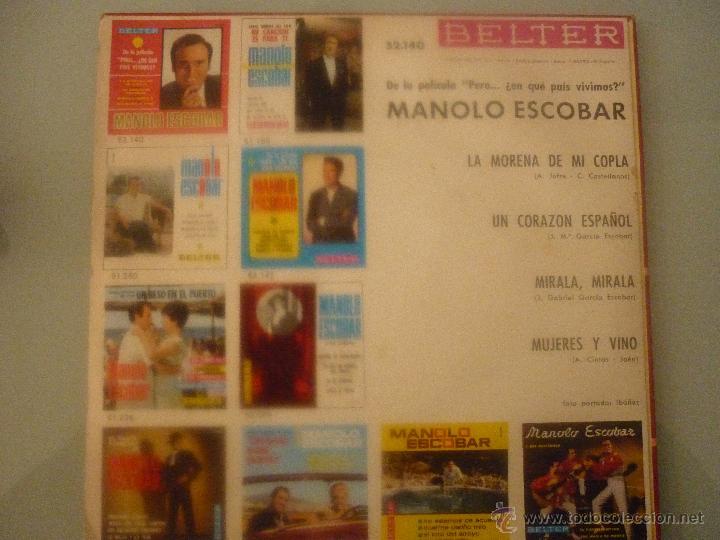 Discos de vinilo: MANOLO ESCOBAR DE LA PELÍCULA: PERO...¿EN QUE PAÍS VIVIMOS? - Foto 2 - 42780927