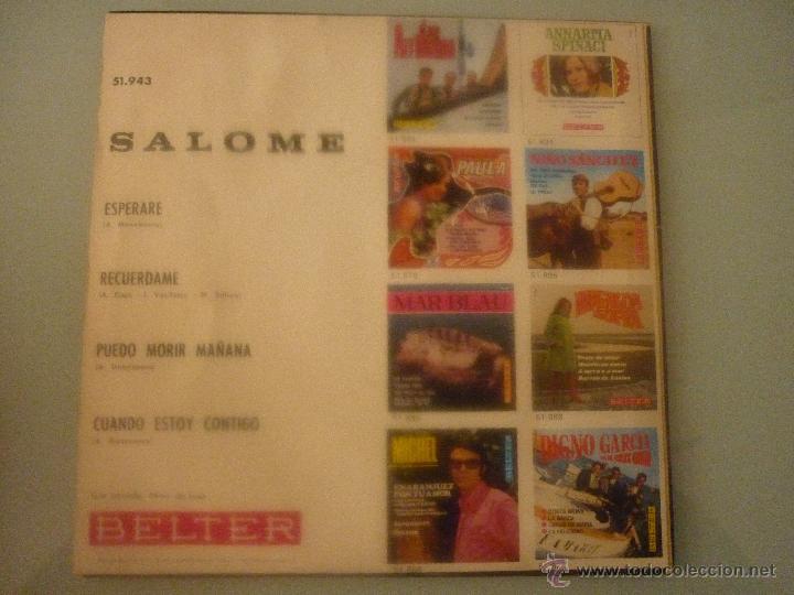 Discos de vinilo: SALOMÉ - Foto 2 - 42781074