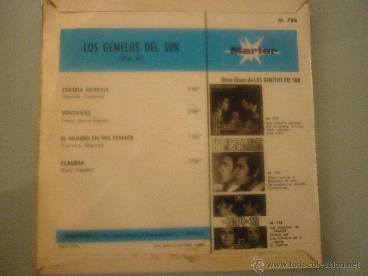 Discos de vinilo: LOS GEMELOS DEL SUR - Foto 2 - 42781382