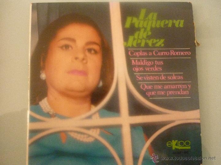 LA PAQUERA DE JEREZ (Música - Discos - Singles Vinilo - Solistas Españoles de los 70 a la actualidad)