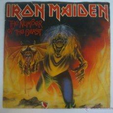 Discos de vinilo: IRON MAIDEN - THE NUMBER OF THE BEAST - SINGLE VINILO ROJO - PRIMERA EDICIÓN 1982. Lote 42787947
