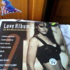 Discos de vinilo: LOVE ALBUM 2 LAS MAS BELLAS BALADAS DE AMOR DOS DISCO C1V. Lote 42788074