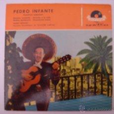 Discos de vinilo: EP. PEDRO INFANTE. CANCIONES POPULARES. DERECHO A LA VIDA/NOCHES TENEBROSAS...POLYDOR.. Lote 42788755