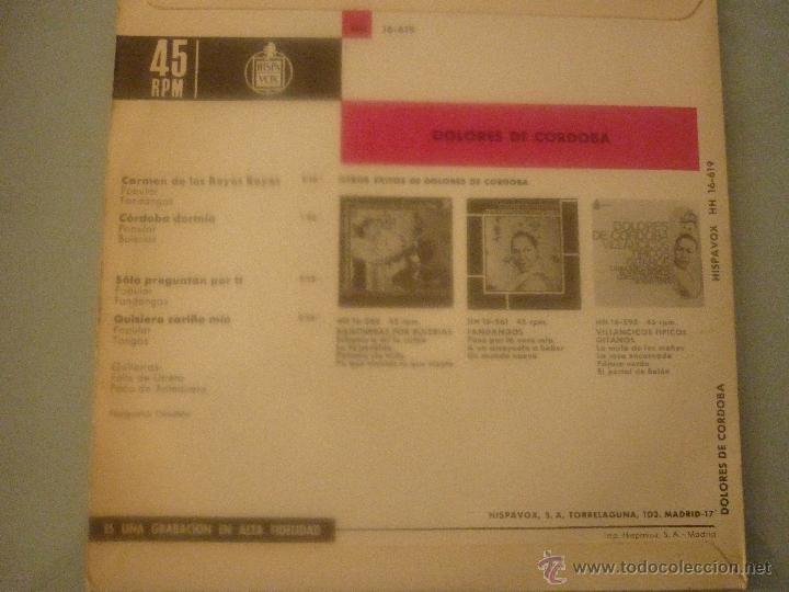 Discos de vinilo: DOLORES DE CORDOBA - Foto 2 - 42789035