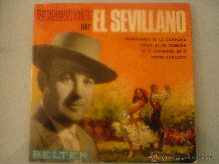 FANDANGOS POR EL SEVILLANO (Música - Discos - Singles Vinilo - Solistas Españoles de los 70 a la actualidad)