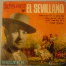 Discos de vinilo: FANDANGOS POR EL SEVILLANO. Lote 42789060