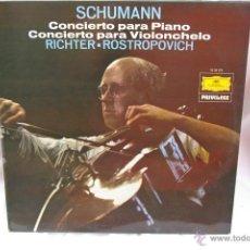 Discos de vinilo: SCHUMANN-POR-MITISLAV ROSTROPOVICH -SVJASTOSLAV RICHTER. Lote 42793708