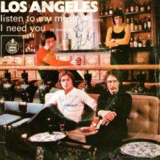 Discos de vinilo: LOS ANGELES - SINGLE VINILO 7'' - EDITADO PORTUGAL - LISTEN TO MY MUSIC + I NEED YOU - ALVORADA 1973. Lote 42795690