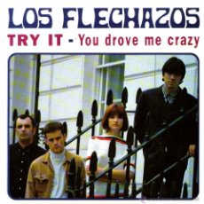 Discos de vinilo: LOS FLECHAZOS - SINGLE VINILO COLOR NEGRO - TRY IT + YOU DROVE ME CRAZY - EDITADO EN INGLATERRA 1994. Lote 42796006