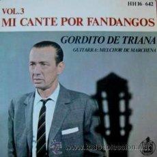Discos de vinilo: GORDITO DE TRIANA - 1968 - GUITARRA MELCHOR DE MARCHENA. Lote 42796707