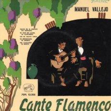 Discos de vinilo: MANUEL VALLEJO - CANTE FLAMENCO (REFERENCIA: 7EPL 13.205). Lote 42797348
