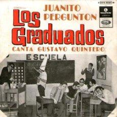 """Discos de vinilo: LOS GRADUADOS - EP SINGLE VINILO 7"""" - EDITADO DE PORTUGAL - JUANITO PREGUNTÓN + 3 - PARLOPHONE. Lote 42798592"""