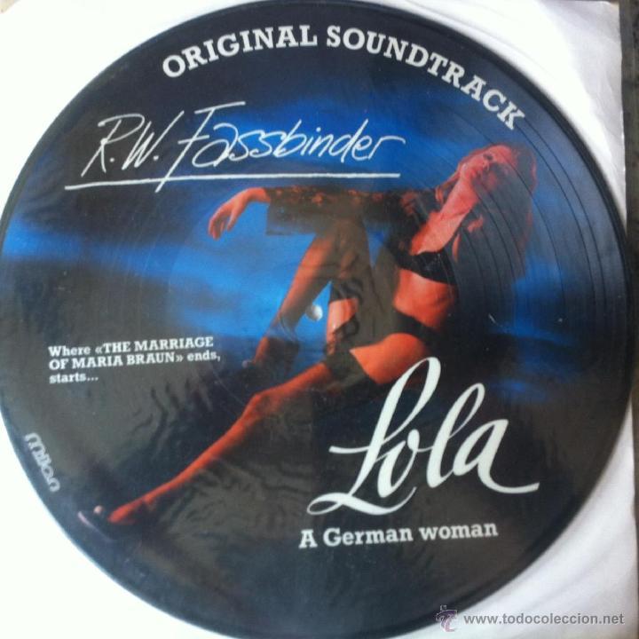 BSO - LOLA - R W FASSBINDER . LP . PICTURE DISC . 1984 SPI FRANCE - MI 120123 (Música - Discos - LP Vinilo - Bandas Sonoras y Música de Actores )