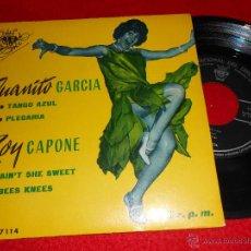 Discos de vinilo: ROY CAPONE AIN'T SHE SWEET/BESS KNESS + JUANITO GARCIA TANGO AZUL/PLEGARIA EP 1962 CID SPAIN ESPAÑA. Lote 42812932