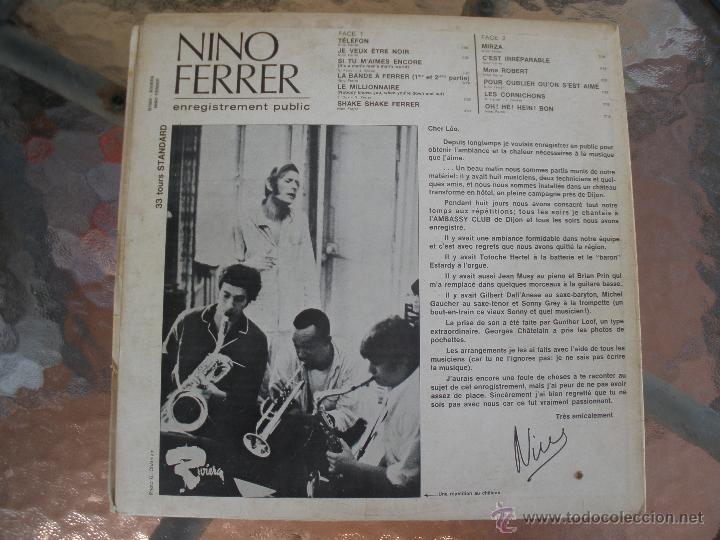 Discos de vinilo: NINO FERRER LE TELEFON MIRZA - Foto 2 - 42816225