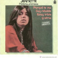 Discos de vinilo: JEANETTE. PALABRAS, PROMESAS..........VERSION ORIGINAL (VINILO LP1979). Lote 42830603