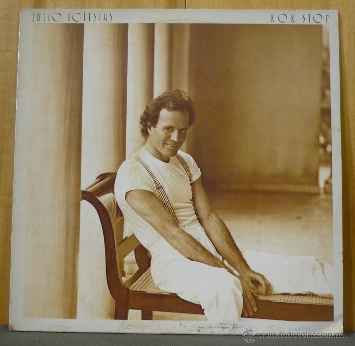JULIO IGLESIAS - NON-STOP - LP CBS - CBS 460990 1 - ESPAÑA 1988 - ENCARTE CON LETRAS (Música - Discos - LP Vinilo - Solistas Españoles de los 70 a la actualidad)
