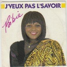 Discos de vinilo: BIBIE - J'VEUX PAS L'SAVOIR / AMOUR TOUJOURS, CBS 1986. Lote 42852713