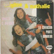 Discos de vinilo: BRIGITTE & NATHALIE - LA CHANSON PORTE BONHEUR - BRIGITTE & NATHALIE, SHOTGUN SIN FECHA. Lote 42852740