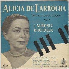 Discos de vinilo: ALICIA DE LAROCHA. SINGLE DEL SELLO HISPAVOX DEL AÑO 1959 (VER CONTENIDO). Lote 42852968