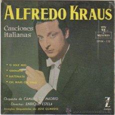 Discos de vinilo: ALFREDO KRAUS, CANCIONES ITALIANAS. AÑO 1959. Lote 42853021