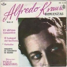 Discos de vinilo: ALFREDO KRAUS DIRIGIDO POR PABLO SOROZABAL, ROMANZAS DE ZARZUELS, SINGLE DEHISPAVOX DEL AÑO 1959 . Lote 42853032