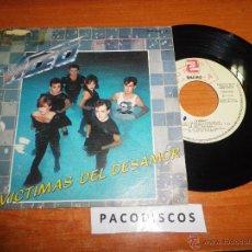 Discos de vinilo: VIDEO VICTIMAS DEL DESAMOR / EMPIEZA LA SUBIDA SINGLE PROMOCIONAL TINO CASAL DEL AÑO 1983 2 TEMAS. Lote 42854589