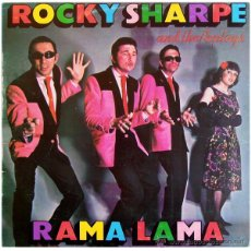 Discos de vinilo: ROCKY SHARPE AND THE REPLAYS - RAMA LAMA - LP SPAIN 1979 - CHISWICK 171510/5. Lote 42856549