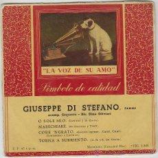 Discos de vinilo: GIUSEPPE DI STEFANO, O SOLE MIO, ETC. LA VOZ DE SU AMO (AÑOS 50). Lote 42868048