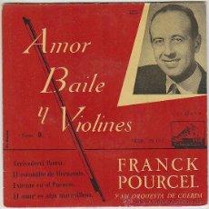 Discos de vinilo: FRANCK POURCEL, AMOR, BAILE Y VIOLINES... LA VOZ DE SU AMO (AÑOS 50). Lote 42868194