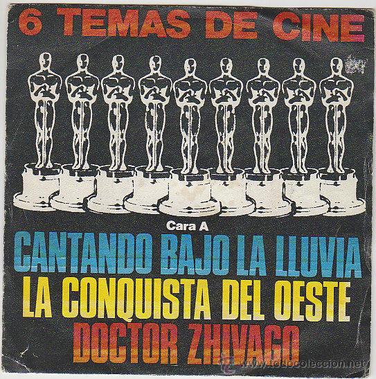 6 TEMAS DE CINE, BANDAS ORIGINALES, SINGLE DEL SELLO POLYDOR DEL AÑO 1980 (Música - Discos de Vinilo - Maxi Singles - Bandas Sonoras y Actores)