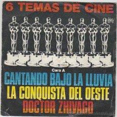 Discos de vinilo: 6 TEMAS DE CINE, BANDAS ORIGINALES, SINGLE DEL SELLO POLYDOR DEL AÑO 1980. Lote 42868337