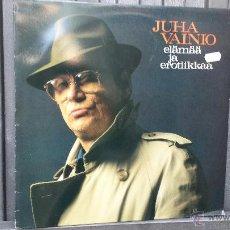 Discos de vinilo: RARO LP. ELÄMÄÄ JA EROTIIKKAA. JUHA VAINIO. CANTAUTOR FINLANDES. LETRISTA POP. Lote 42868440