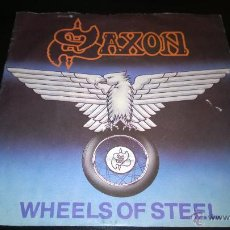 Discos de vinilo: SAXON - WHEELS OF STEEL / STAND UP AND BE COUNTED. Lote 42876323